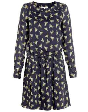Paul & Joe Sister Navy Leopard Dress