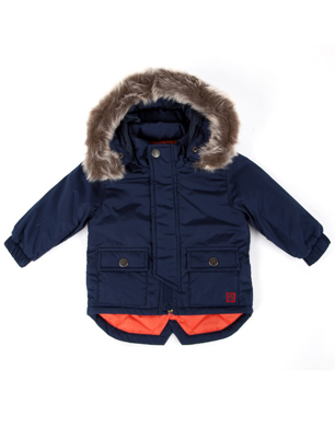 Baby Boy Navy Fishtail Parka