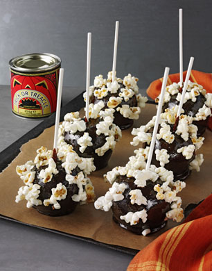 Popcorn Toffee Apples