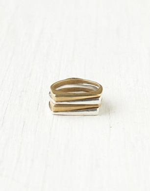 Push by Pushmataaha Stacked Glade Ring