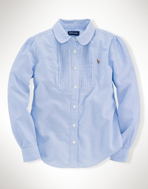 Pintuck Long-Sleeved Oxford