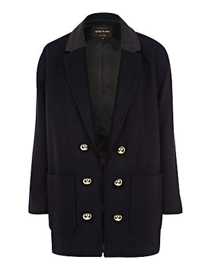 Navy Military Boyfriend Coat
