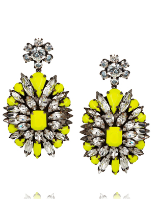 Shourouk Leitmotif Swarovski Crystal Earrings