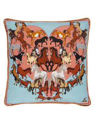 Silken Favours Elegant Equines Silk Cushion