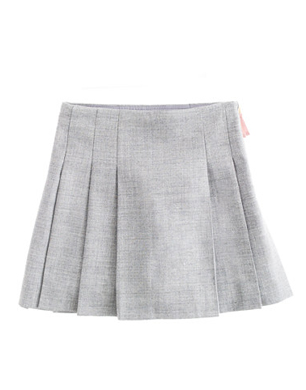 Girls Pleated Flannel Skirt