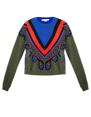 Stella McCartney Fair Isle Cropped Sweater