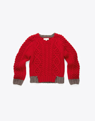 Spike Arran Wool Blend Cable Knit Jumper