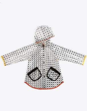 Dottie Raincoat Transparent Dotty Print Raincoat With Hood