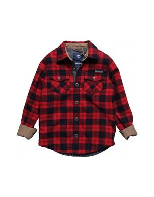Timberland Red Check Fleece Overshirt
