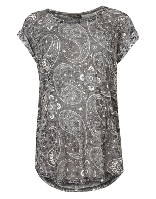 Maternity Paisley Burn Out Tee