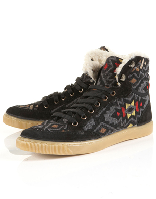 Teepee Black Fur-Lined Hi-Tops
