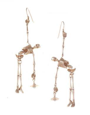 Skeleton Earrings Rose Gold