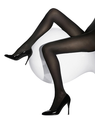 Wolford Black Velvet de Luxe 66 Tights