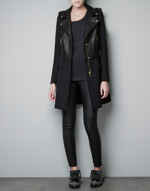 Leather Biker Coat