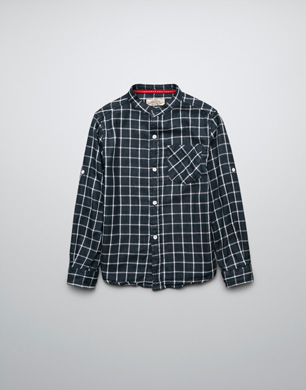 Roll-Up Double Face Check Shirt