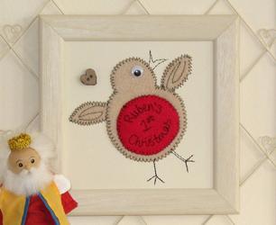 Robin Embroidered Artwork