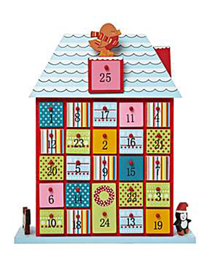 Frosty Novelty Wooden Advent Calendar