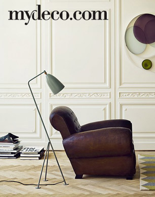 Mydeco armchair and lamp