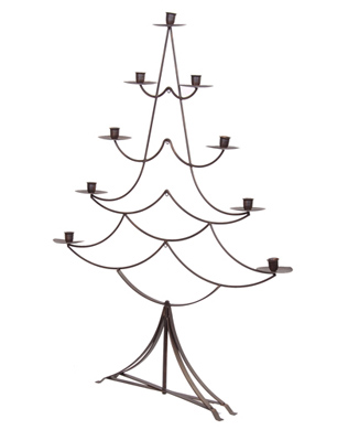 metal christmas tree candelabra