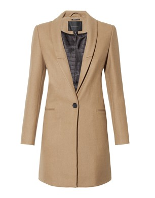 Maison Scotch Camel Classic Coat