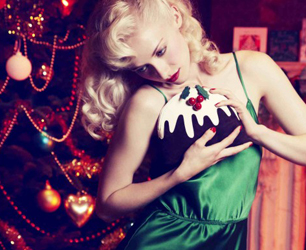 Charlotte Olympia Christmas Pudding Clutch Bag