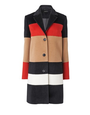 Italian Wool Colour Block Coat