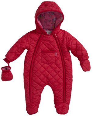 Quilted Red Snowsuit