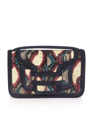 Pierre Hardy Watersnake and Suede Bag