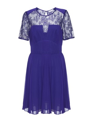 Clara Pintuck Pleated Dress