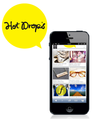 iPhone 5 and hot drops logo