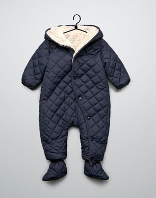 Blue Quilted Snowsuit