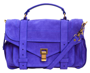 proenza schouler purple suede satchel in liberty online sales uk