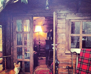 the hunting cabin at the york and albany pub