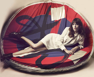 Alexa Chung in Maje SS13 campaign