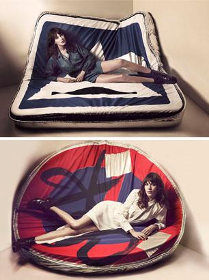 Maje SS13 campaign featuring Alexa Chung
