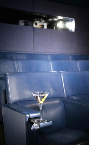 martini in cinema at one aldwych hotel