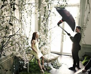 Vanessa Paradis shooting H&M Conscious campaign