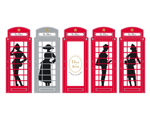 Dior at Harrods Phone Boxes