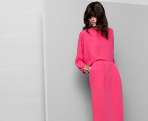 &Other Stories SS13 model wears pink dress