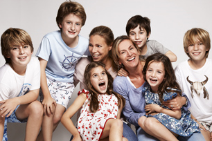 Sunuva co-founders Emily and Sabrina with their children.