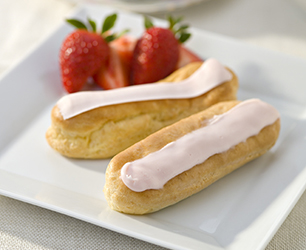 Creamy Strawberry Eclairs