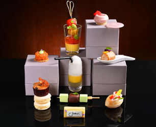 10 afternoon tea delicacies were designed with 26 all natural ingredients at MO Bar to boost well being from within