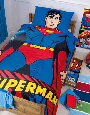 Superman full bedding set super steel comforter sheets contemporary - Superman Bed Set Book Covers