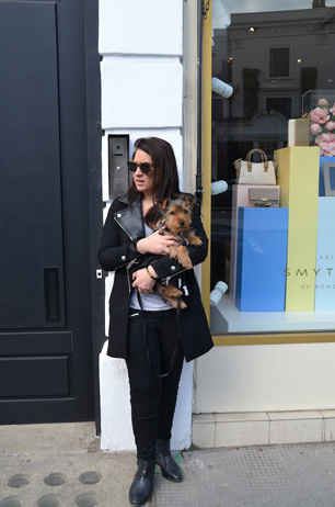 Steph and Stylish Pup George