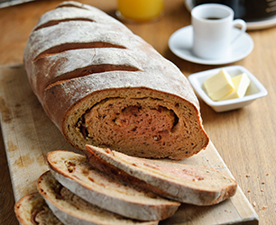 Beetroot, Bacon and Cheddar Brunch Bread