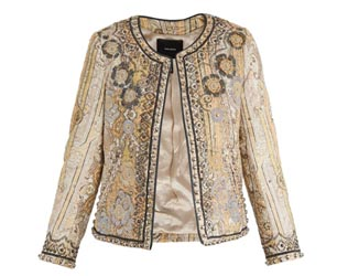 Isabel Marant Jacket in gold with embroidery