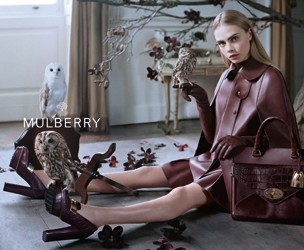 Mulberry AW13 Campaign with Cara Delevingne