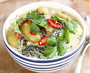 Kale and Potato Curry