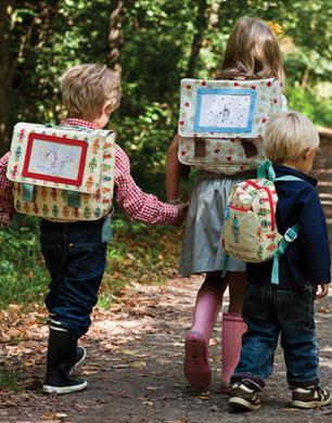 children wearing Pink Lining bags