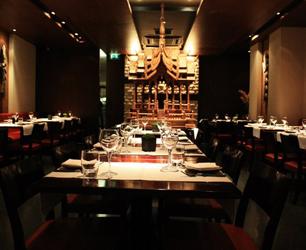 dining table in Patara Restaurant